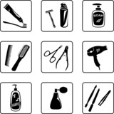 Personal hygiene objects poster