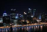 Pittsburgh's skyline from Mount Washington at night. - 10112961