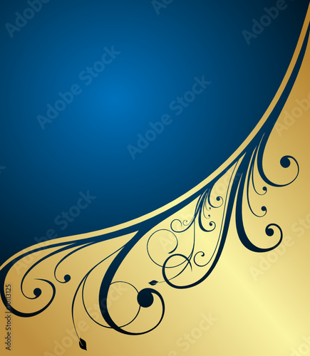 abstract gold floral banner