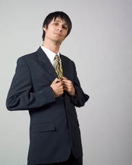 Young businessman posing