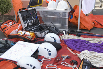 Rescue equipment and material to climb