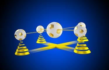 3D balls and golden helix
