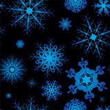 Snowflake background design in blue and black with no join poster