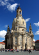 Frauenkirche cathedral (Mother of God Church) at the Dresden