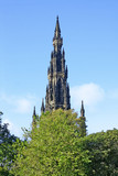 A photography of the Sir Walter Scott Monument poster
