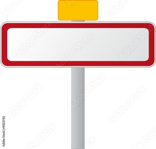 panneau de ville village stickers stickers muraux. Black Bedroom Furniture Sets. Home Design Ideas