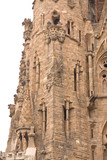unfinished gothic cathedral Sagrada Familia in Barcelona, Spain poster