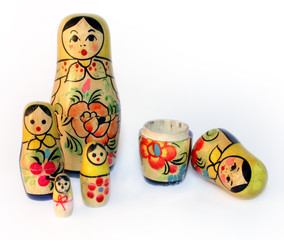 Old toy, a nested doll