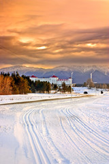Winter at Bretton Woods, New Hampshire..