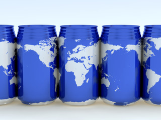 Canned globes (Europe,Africa)
