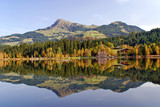 Lake and mountains at Schwarzsee - Kitzbuhel Austria