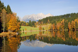 Mountains and lake at Schwarzsee - Kitzbuhel Austria