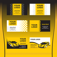 Taxi Service Business Cards