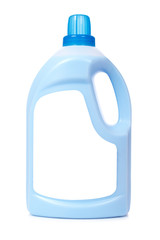 Detergent or fabric softener on white. Blank label path included
