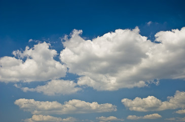 Scenery background - clouds in blue sky