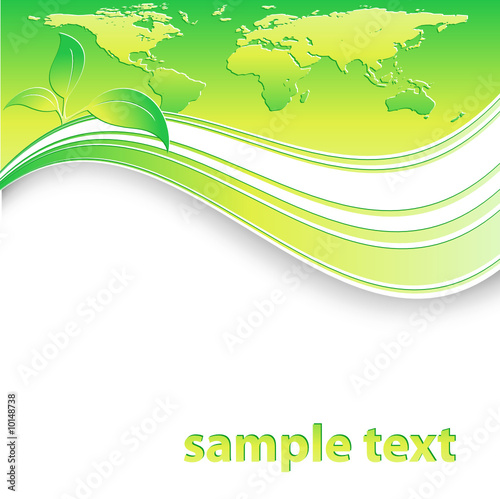 modern vector environmental template with leaves