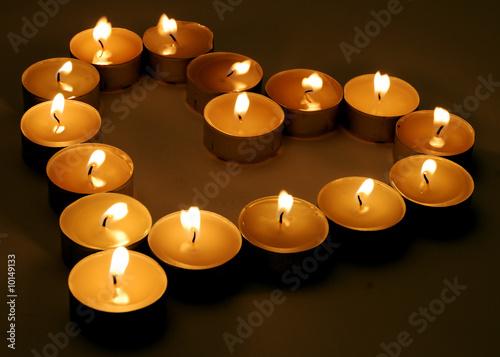 Foto op Canvas Pizzeria cuore con candela