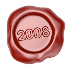 Wax seal with 2008 text
