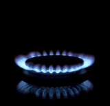 Close up of a gas burner poster