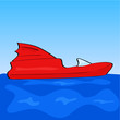 Cartoon speedboat