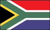 Flag south africa poster