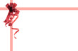 Red Gift Ribbons with Copy Space