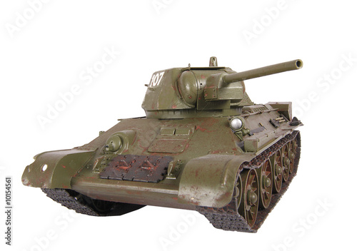 Model of tank T-34 isolated
