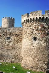 tower of ancient fortress Kalemegdan in Belgrade