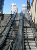 Rolltreppe zum Potsdamer Platz poster