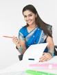 a beautiful asian female executive of indian origin