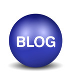 Blog Icon - blue poster