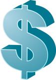 United States Dollar Currency symbol isometric illustration poster