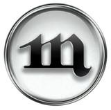 Scorpio zodiac button icon, isolated on white background. poster