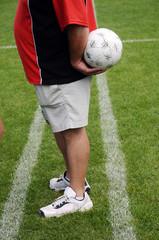 entrenador con pelota
