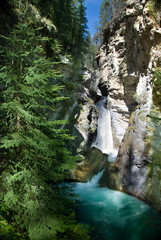 Lower falls at Johnston Canyon in Banff National Park