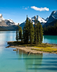 The wold famous, Spirit Island, in Jasper National Park