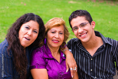 Grandmother, mother and grandson family generation