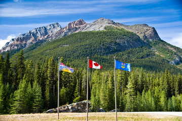 The Continental Divide in the Canadian Rockies