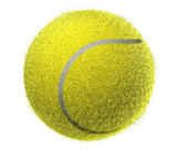Fuzzy Tennis ball up close poster