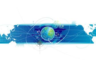 Global communications design, vector illustration layered.
