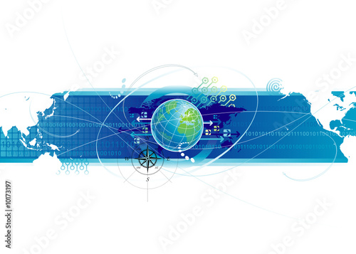 Global communications design, vector illustration layered.