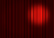 Leinwanddruck Bild - Spotlight on stage curtains