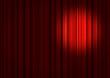 Spotlight on stage curtains - 10173720