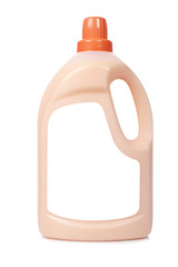 Fabric softener on white background. Blank label path included