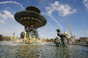 Obelisque Fontaine Place de la Concorde Paris