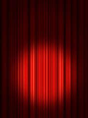 Spotlight on stage curtains