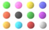 Fluffy spheres poster