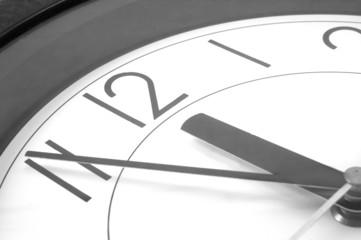 wall clock at 12. time is running out