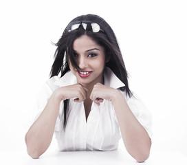 portrait of a pretty asian girl of indian origin