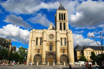 Basilica Saint Denis and Saint Denis main square, Paris, France